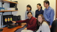 Staff for the Functional Brain Imaging Laboratory, front row, left to right: An Vo, Shichun Peng, Chris Tang; front row: Yilong Ma, PJ Allen, David Eidelberg, Vijay Dhawan, Aziz Ulug, and Phoebe Spetsieris are missing from the picture.